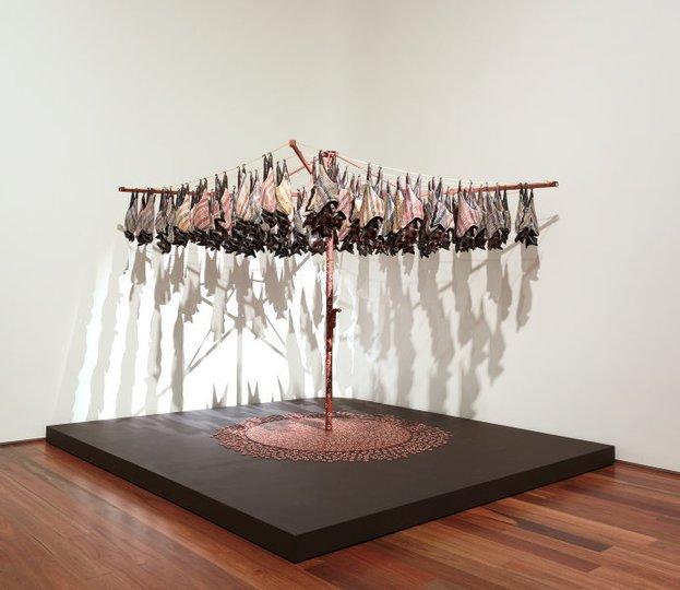 AGNSW collection Lin Onus Fruit bats (1991) 395.1993.a-c