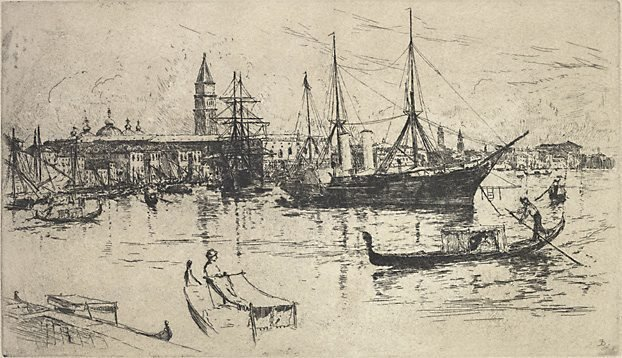 An image of View of shipping, Venice