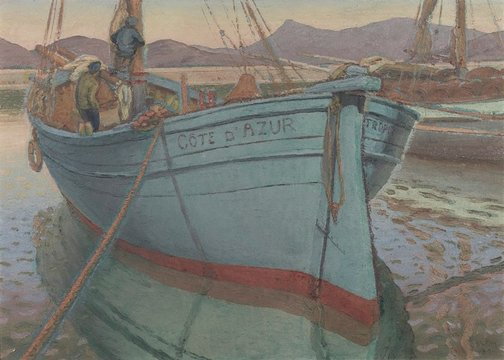 An image of Boats at St. Tropez by Weaver Hawkins