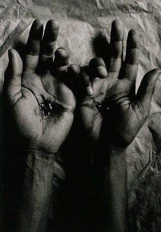 AGNSW collection Michael Riley Untitled (crucified hands) 1992