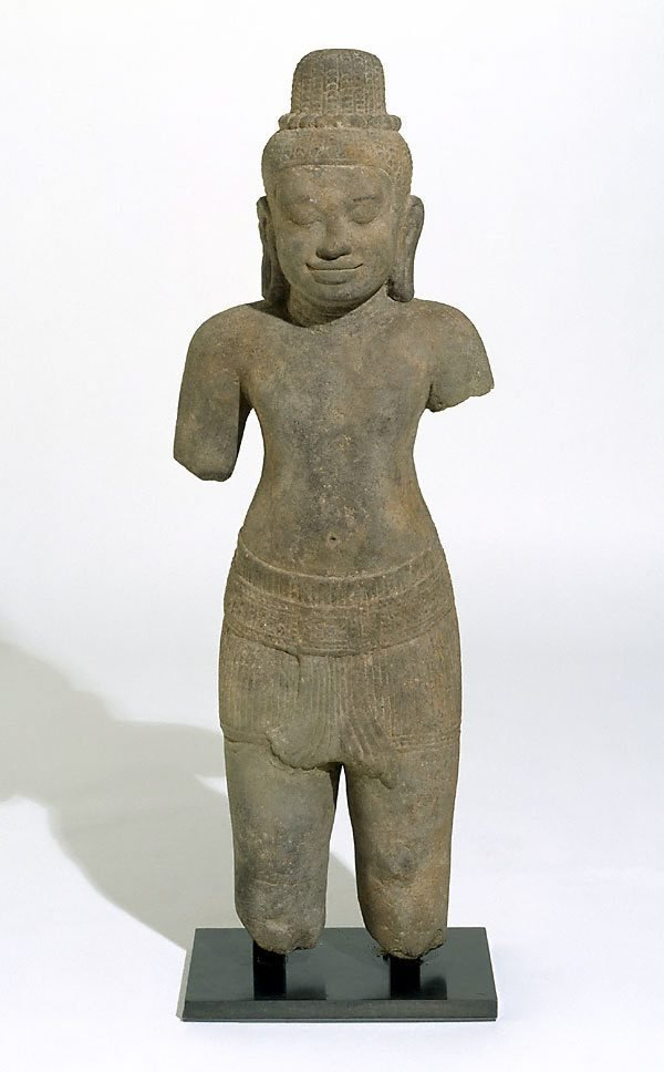 An image of Figure of a deified male