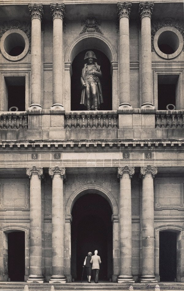 An image of Untitled (Napoleon's statue on the balcony of Les Invalides)