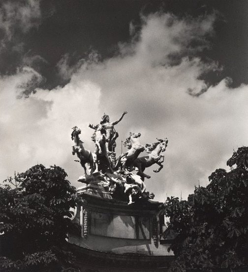 An image of Untitled (mythological sculptural group at the Grand Palais) by Max Dupain