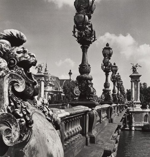 An image of Untitled (the balustrade of Pont Alexandre III) by Max Dupain