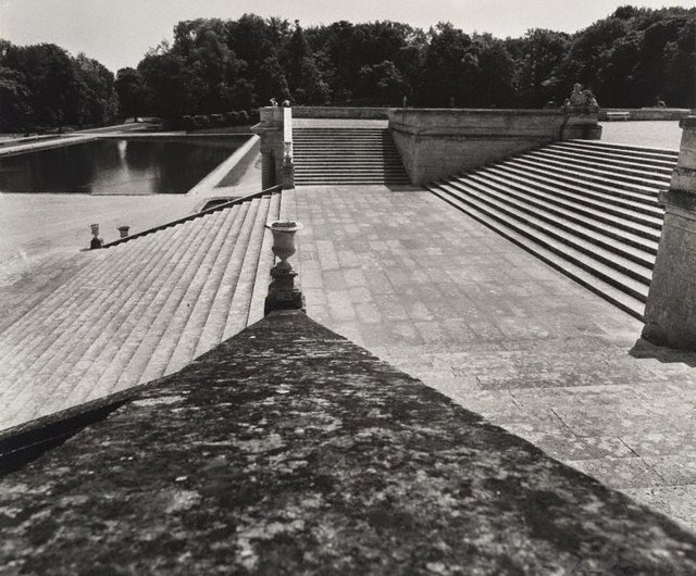 An image of Untitled (staircase to the park, looking toward Bassin des Serruriers, Domaine de Chantilly)