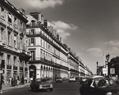 An image of Untitled (cars on rue de Rivoli) by Max Dupain