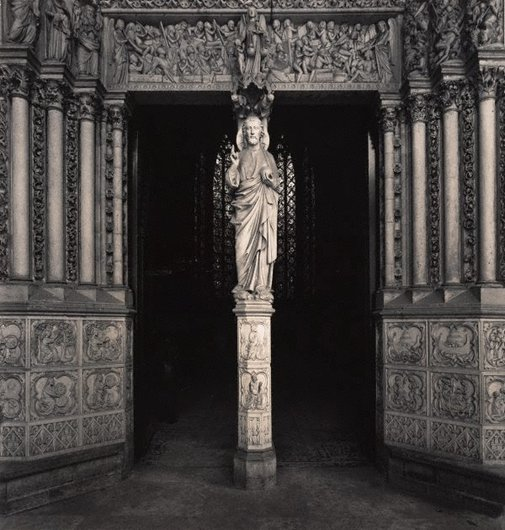 An image of Untitled (the statue of Christ at the portal of La Sainte-Chapelle) by Max Dupain