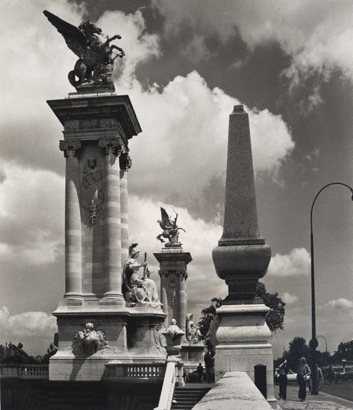 An image of Untitled (Pont Alexandre III with sculptural balustrade) by Max Dupain