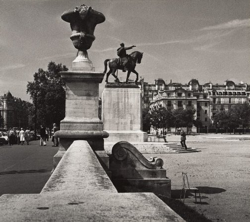 An image of Untitled (statue of Maréchal Joffre, Place Joffre, Champ-de-Mars) by Max Dupain