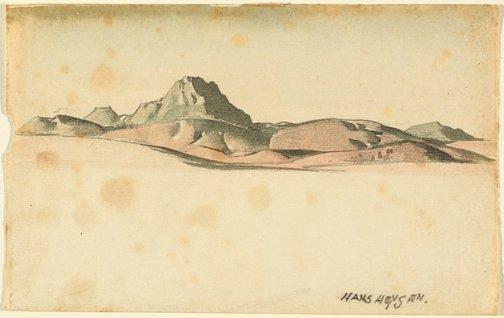 An image of Mt. Patawerta, Flinders Ranges by Hans Heysen