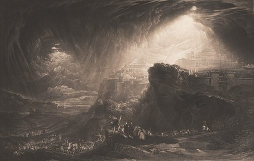 An image of Joshua commanding the sun to stand still by John Martin