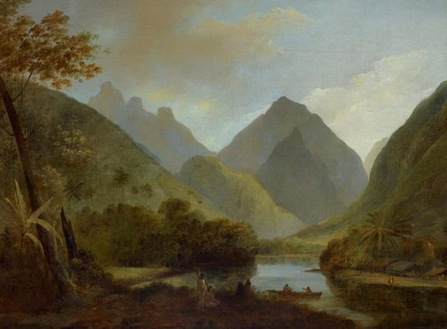 An image of A view in Otaheite Peha by John Webber