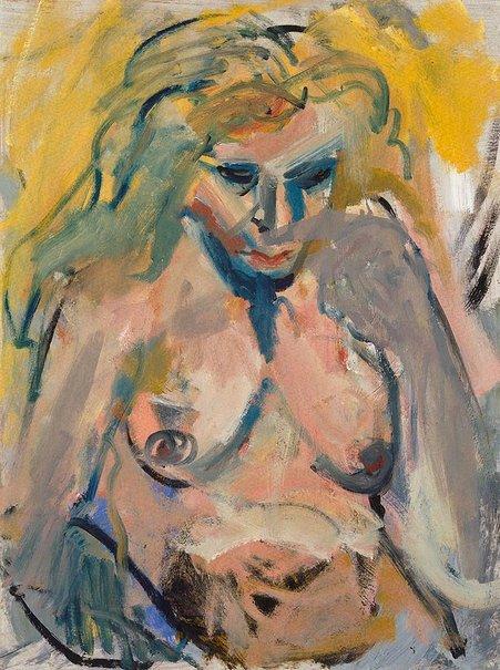 An image of Nude with grey hand by Jon Molvig