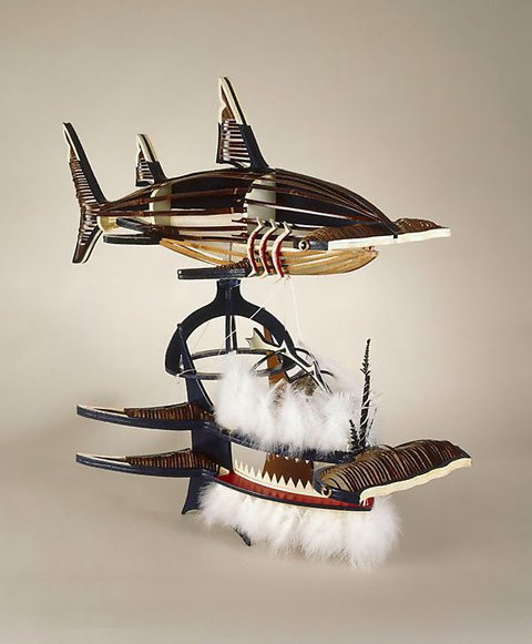 Beizam (shark) dance mask, (1996) by Ken Thaiday