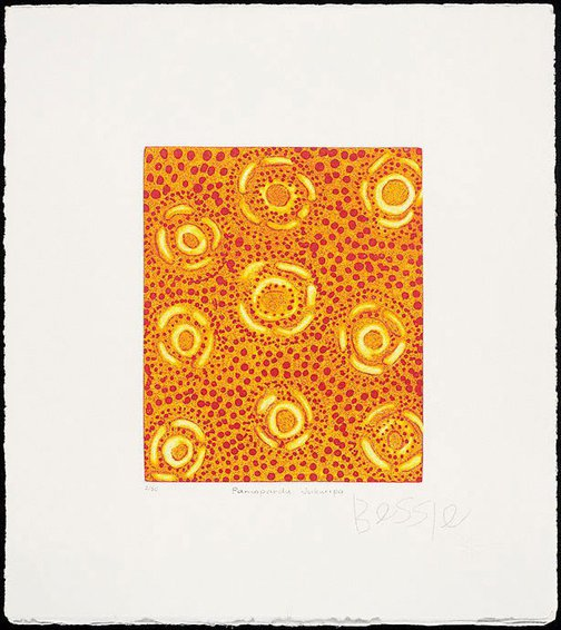 An image of Pamapardu Jukurrpa (Flying ant dreaming) by Bessie Nakamarra Sims