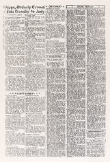 An image of The New York Daily News on the day before the Stonewall Riot copied by hand from microfilm records by Mathew Jones