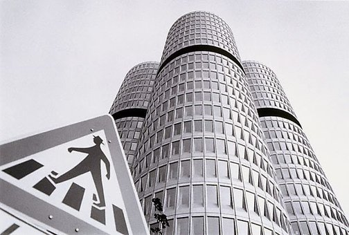 An image of BMW building, Munich by David Moore