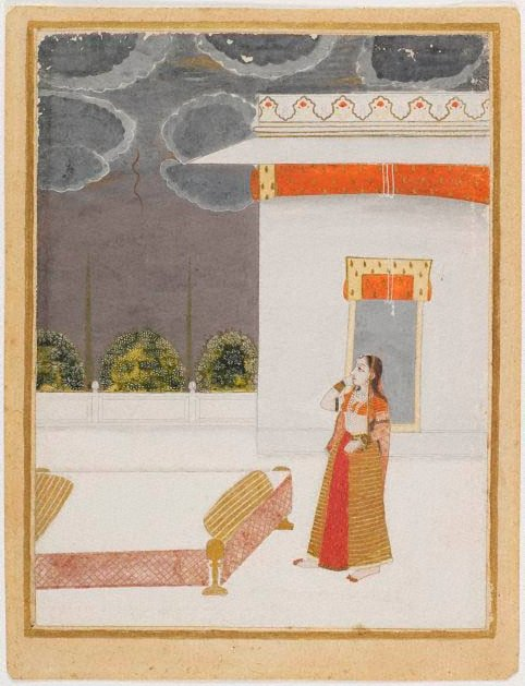 An image of Portrait of woman on terrace