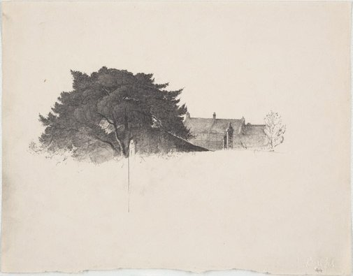 An image of Study for 'Round towards Berry's Bay' by Lloyd Rees