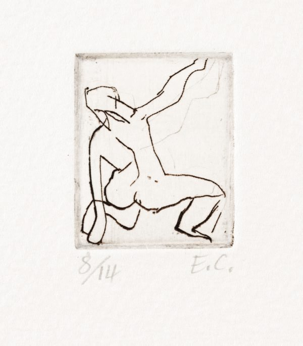 An image of Kneeling nude from back