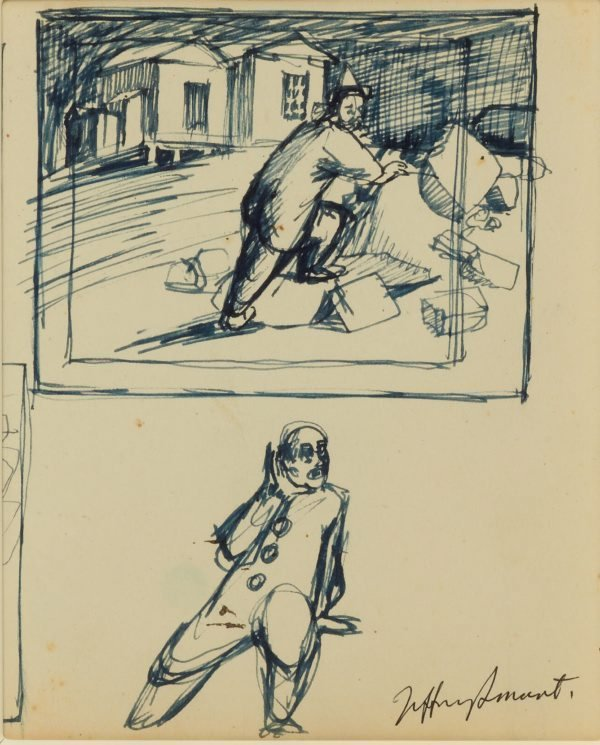 An image of Studies for 'Clown in the ruins' 1957