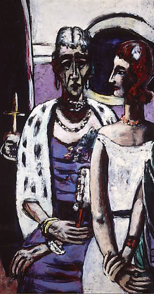 AGNSW collection Max Beckmann Mother and daughter (1946) 400.1987