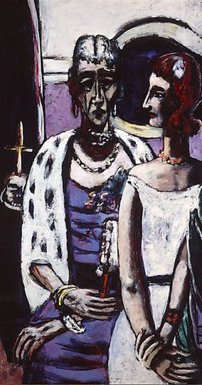 AGNSW collection Max Beckmann Mother and daughter 1946