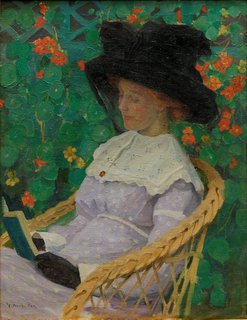 Nasturtiums, (circa 1912) by E Phillips Fox