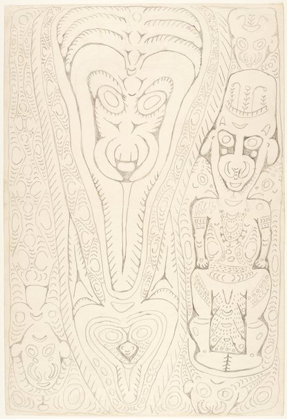 An image of Wai'i, a spirit associated with fighting shields by Simon Nowep