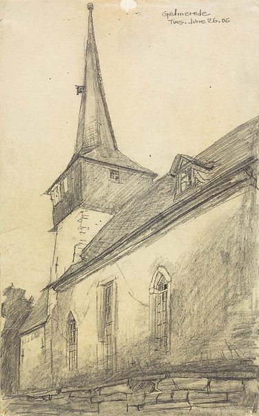 An image of Gelmerode by Lyonel Feininger