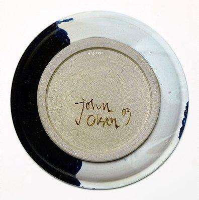 Alternate image of Ceramic plate by John Olsen, Ros Auld