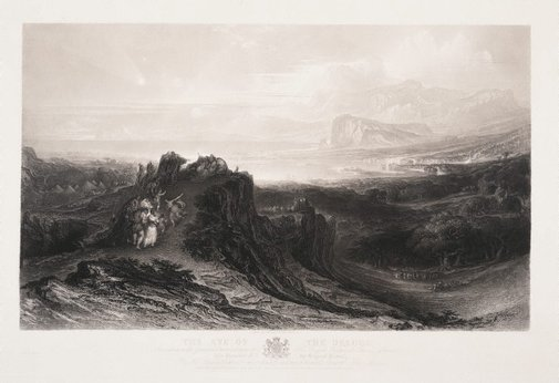 An image of The Eve of the Deluge by John Martin