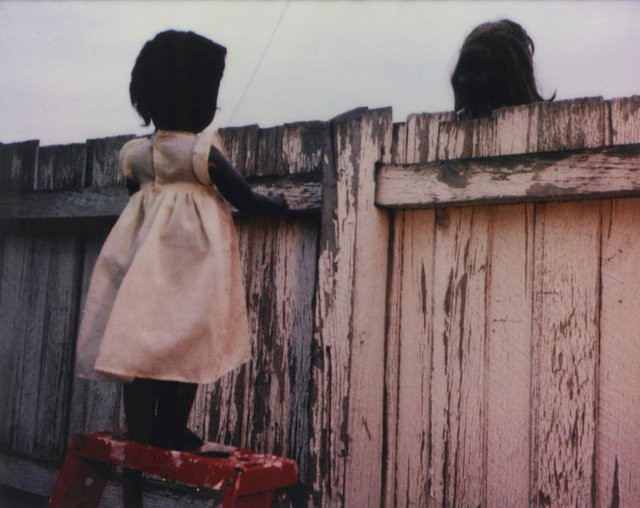 Over the Fence, 2000 by Destiny Deacon
