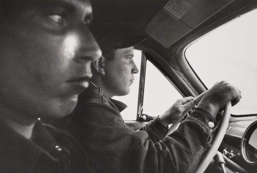 An image of US 91, leaving Blackfoot, Idaho by Robert Frank