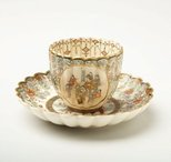 Alternate image of Cup and saucer by Satsuma ware