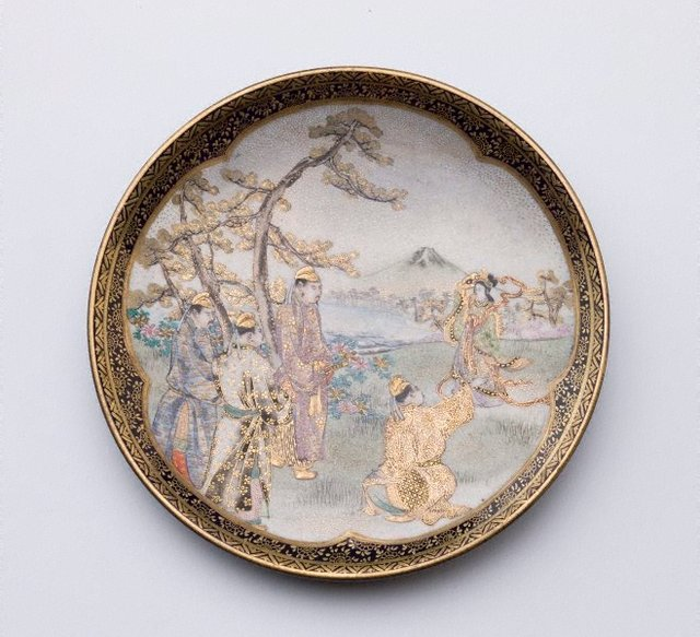 An image of Cigar tray with design of landscape scene