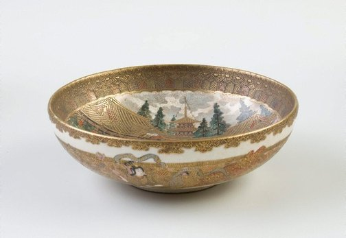 An image of Bowl by ÔBA Gakusen, Satsuma ware