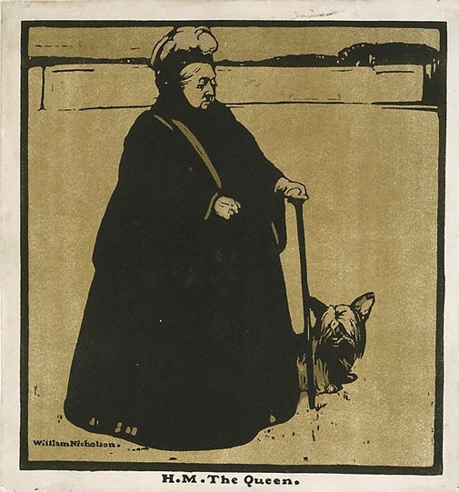 An image of Queen Victoria by Sir William Nicholson