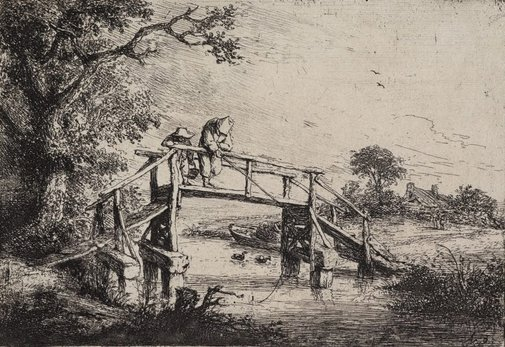 An image of The anglers by Adriaen van Ostade