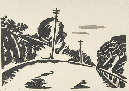 An image of A cutting by Fukazawa Sakuichi