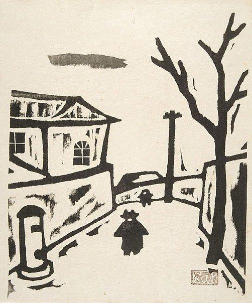An image of Winter day by Fukazawa Sakuichi