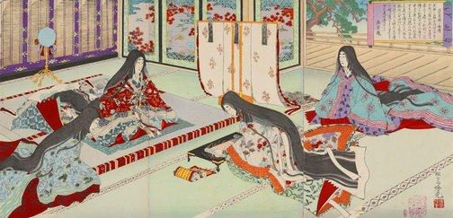 An image of Short biography of Murasaki Shikibu by Adachi/Shôsai Ginkô