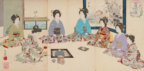 An image of Tea ceremony by Adachi/Shôsai Ginkô