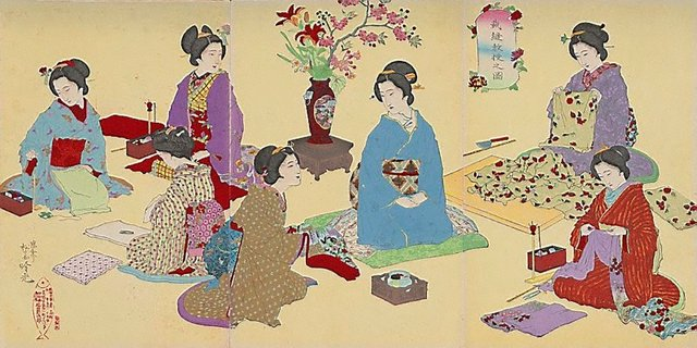 An image of Sewing lesson