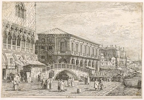 An image of The prison by Canaletto