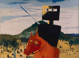 AGNSW collection Sidney Nolan, Portalegre Tapestry Workshop Ned Kelly 1975