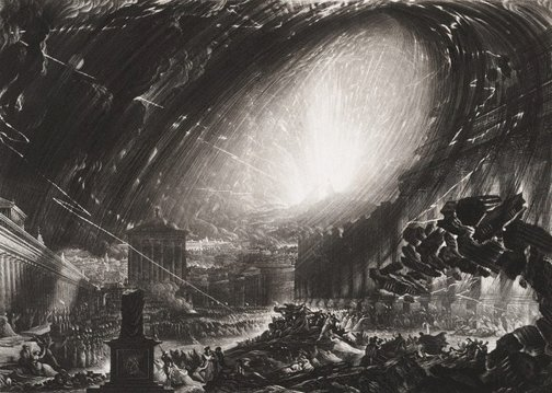 An image of The last day of Pompeii by James G S Lucas