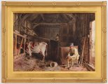 Alternate image of The cow shed by William Henry Hunt
