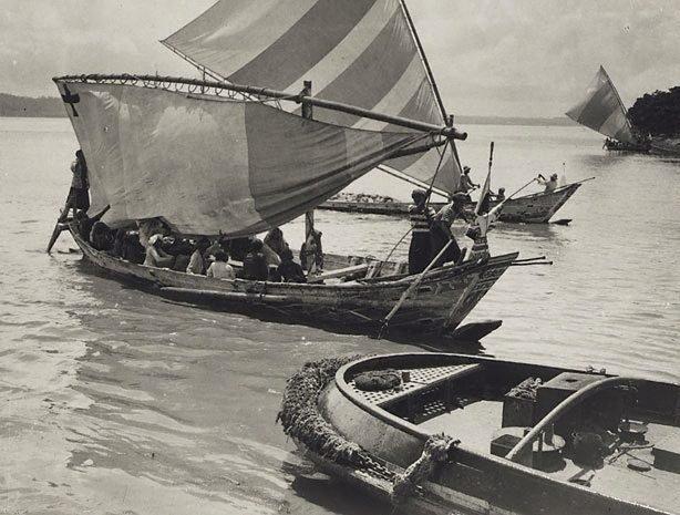 An image of Untitled (Native boats, Fijian Islands)