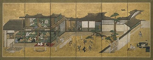 An image of Merrymaking in the Yoshiwara by